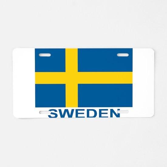 sweden-flag-lebeled.png Aluminum License Plate