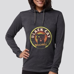Black Cat Record LP art Long Sleeve T-Shirt