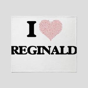 I Love Reginald (Heart Made from Lov Throw Blanket