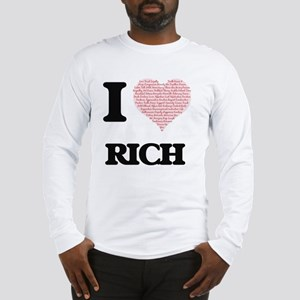 I Love Rich (Heart Made from L Long Sleeve T-Shirt