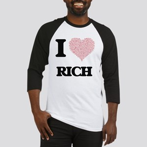 I Love Rich (Heart Made from Love Baseball Jersey