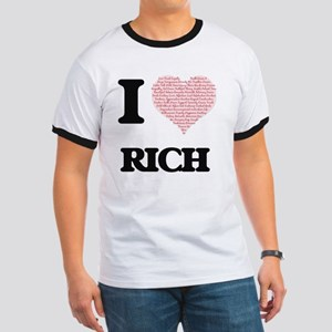 I Love Rich (Heart Made from Love words) T-Shirt
