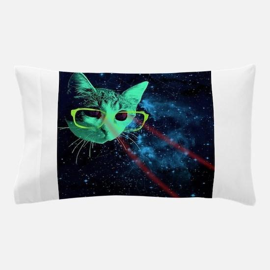 Laser Eyes Space Cat Pillow Case