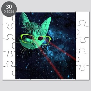 Laser Eyes Space Cat Puzzle