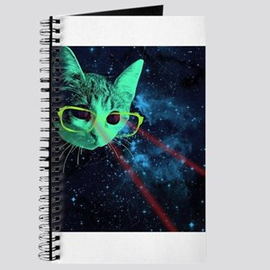 Laser Eyes Space Cat Journal