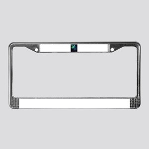 Laser Eyes Space Cat License Plate Frame