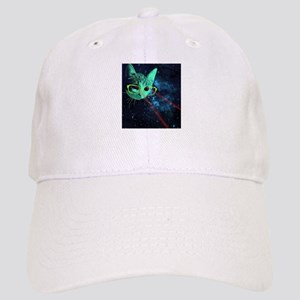 Laser Eyes Space Cat Cap