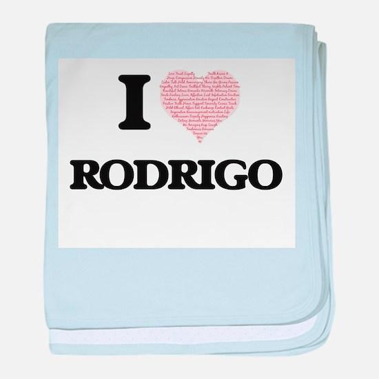 I Love Rodrigo (Heart Made from Love baby blanket