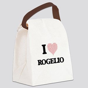 I Love Rogelio (Heart Made from L Canvas Lunch Bag