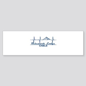 Telemark Lodge - Cable - Wisconsi Bumper Sticker