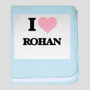 I Love Rohan (Heart Made from Love wo baby blanket