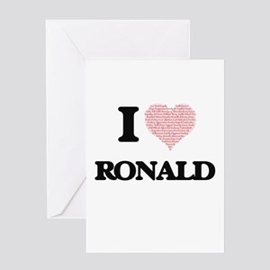 I Love Ronald (Heart Made from Love Greeting Cards