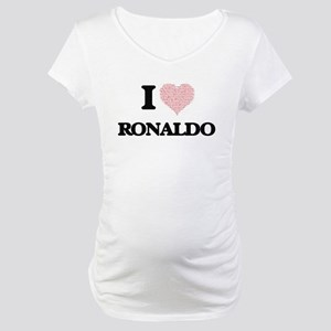 I Love Ronaldo (Heart Made from Maternity T-Shirt