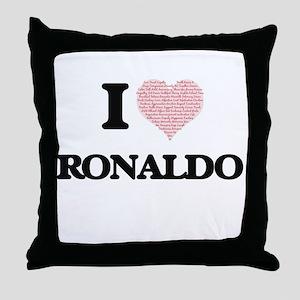 I Love Ronaldo (Heart Made from Love Throw Pillow