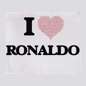 I Love Ronaldo (Heart Made from Love Throw Blanket
