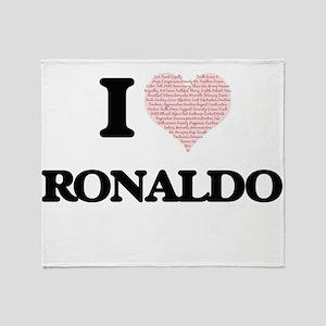 I Love Ronaldo (Heart Made from Love Throw Blanket
