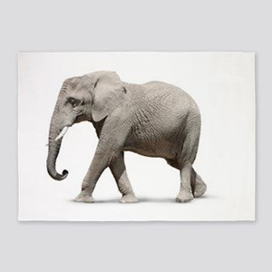 Elephant Photo 5'x7'Area Rug