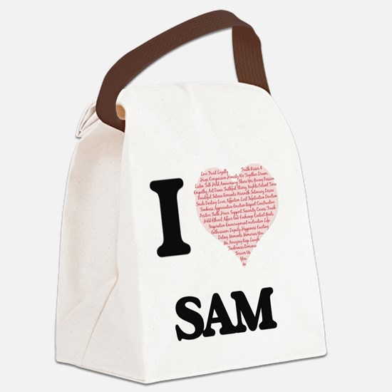 Unique I heart sam Canvas Lunch Bag
