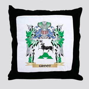 Groot Coat of Arms (Family Crest) Throw Pillow