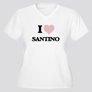 I Love Santino (Heart Made from Plus Size T-Shirt