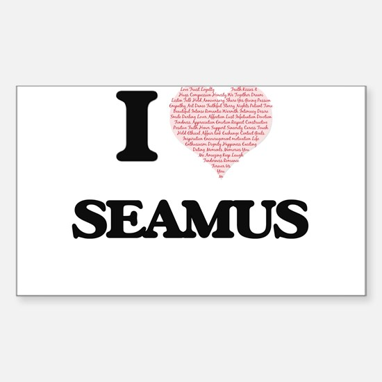 I Love Seamus (Heart Made from Love words) Decal