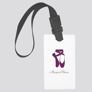 Team Pointe Ballet Orchid Person Large Luggage Tag