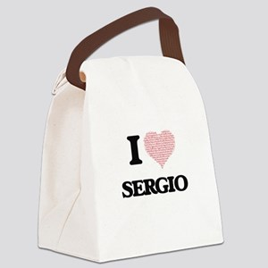 I Love Sergio (Heart Made from Lo Canvas Lunch Bag