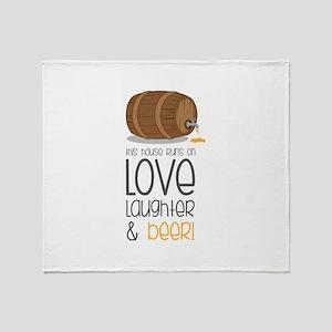 Love & Beer Throw Blanket