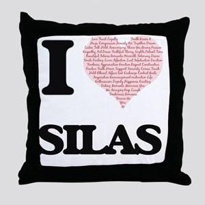 I Love Silas (Heart Made from Love wo Throw Pillow