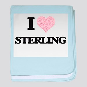 I Love Sterling (Heart Made from Love baby blanket