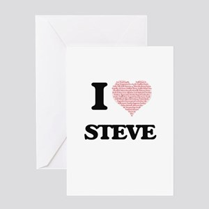I Love Steve (Heart Made from Love Greeting Cards