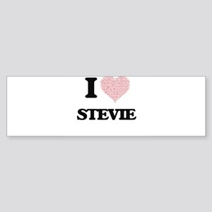 I Love Stevie (Heart Made from Love Bumper Sticker