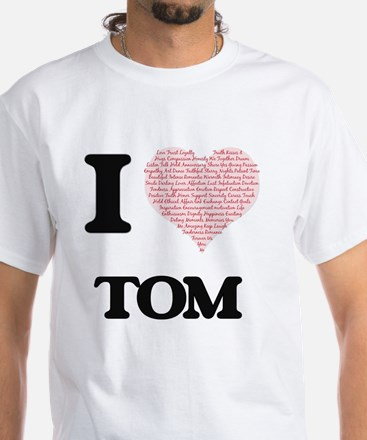 I Love Tom (Heart Made from Love words) T-Shirt