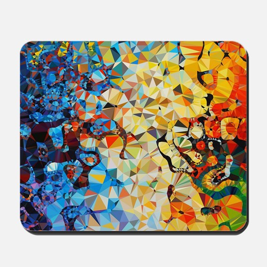 Abstract Low Poly Geometric Triangles Mousepad