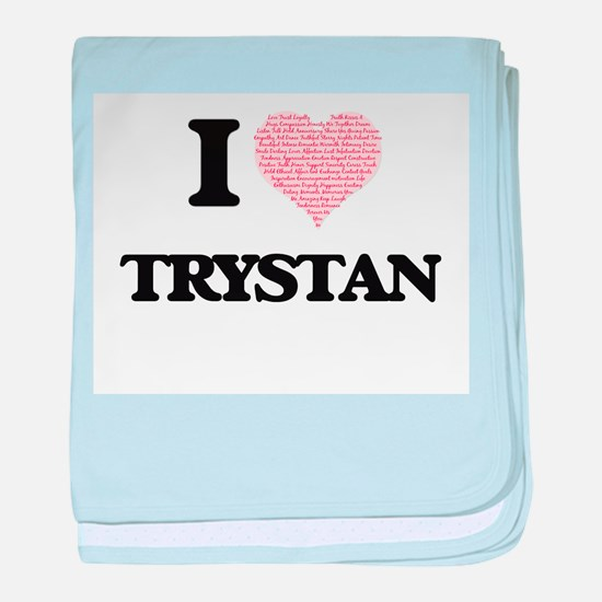 I Love Trystan (Heart Made from Love baby blanket