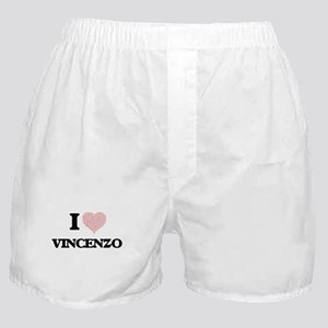 I Love Vincenzo (Heart Made from Love Boxer Shorts