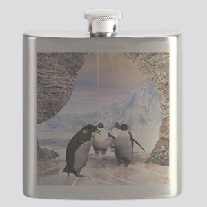 Funny penguin Flask