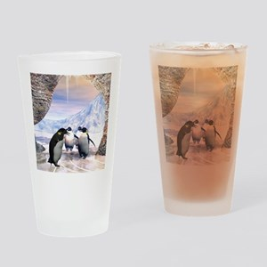 Funny penguin Drinking Glass