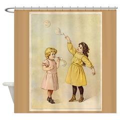Vintage Bubbles Shower Curtain