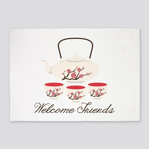 Welcome Friends 5'x7'Area Rug