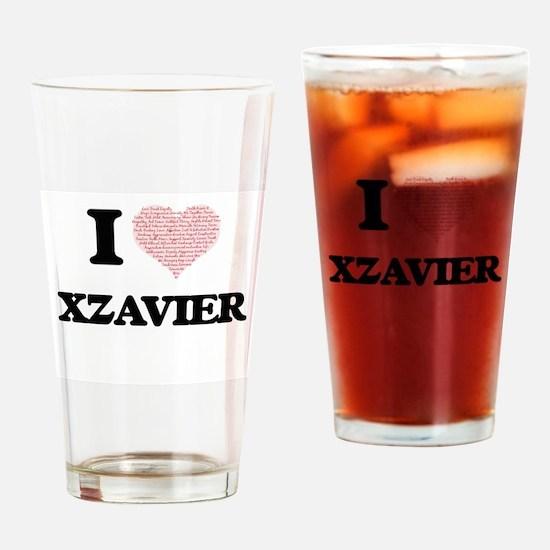 I Love Xzavier (Heart Made from Lov Drinking Glass