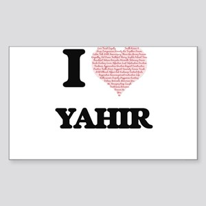 I Love Yahir (Heart Made from Love words) Sticker