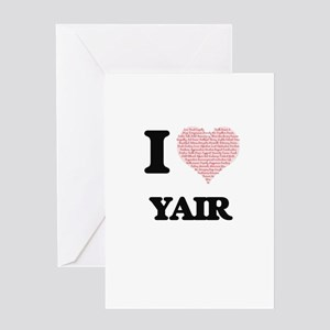I Love Yair (Heart Made from Love w Greeting Cards
