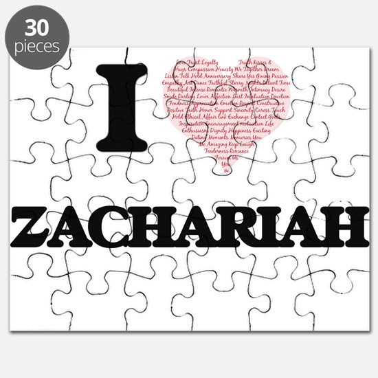 I Love Zachariah (Heart Made from Love word Puzzle