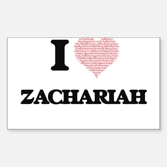 I Love Zachariah (Heart Made from Love wor Decal
