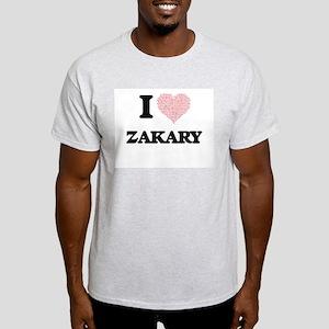 I Love Zakary (Heart Made from Love words) T-Shirt