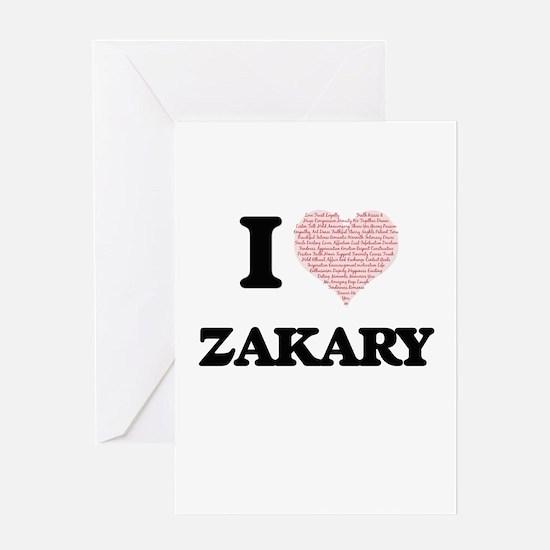 I Love Zakary (Heart Made from Love Greeting Cards