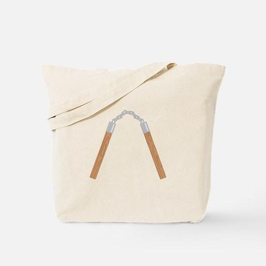 Nunchucks Tote Bag