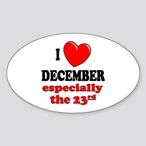 December 23rd Oval Sticker