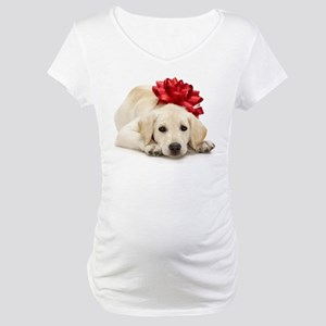 Yellow Lab Puppy Maternity T-Shirt